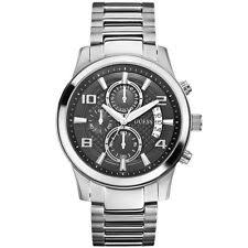 guess watches for men new used guess w0075g1 men s chronograph stainless steel case bracelet black dial watch