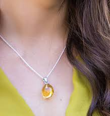 amber large raw sterling silver pendant necklace