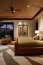 brownbeige bedroom color theme and tropical decorating style ceiling fan vaulted ceiling bedroom decor ceiling fan