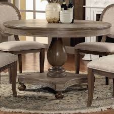 furniture of america lelan traditional country style rustic round 48 inch dining table