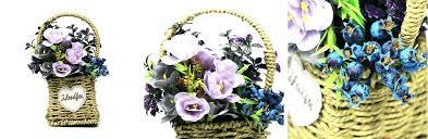 artificial hanging baskets outdoor silk flowers fl