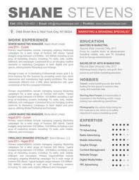 Creative Cool Resume Templates For Mac By Shane Stevens Resume
