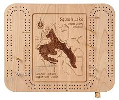 Moosehead Lake In Piscataquis Somerset Me Cribbage Board 9 X
