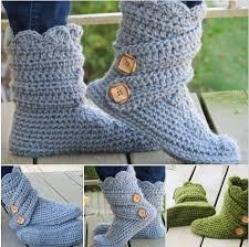 Free Crochet Slipper Boots Pattern