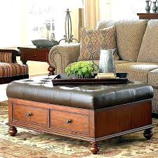 leather tufted ottoman coffee table dark brown leather ottoman brown leather storage elegant brown leather storage