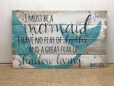 i must be a mermaid pallet sign 22x13 beach house decor ocean pallet sign from reclaimed wood on wooden beach themed wall art with ocean pallet art wooden vitamin sea sign seaside decor upcycled
