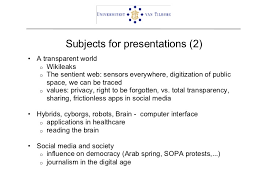 presentation topics  2 subjects for presentations