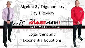 nys algebra 2 trigonometry review day 1 logarithms and exponential equations