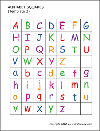 Enjoy this this colorful collection of free printable stationery and writing paper. Alphabet Letter Squares Free Printable Templates Coloring Pages Firstpalette Com