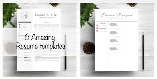 Cool Resume Templates Extraordinary 60 Best 60's Creative ResumeCV Templates Printable DOC