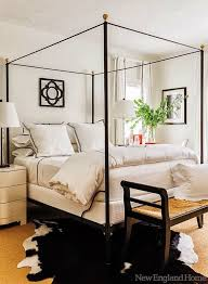 Design Bedroom With Wrought Iron Canopy Bed  Modern Wall Sconces Canopy Iron Bed