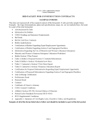 Construction Contract Format Construction Construction Contract Form Bid Packet For Contracts 21