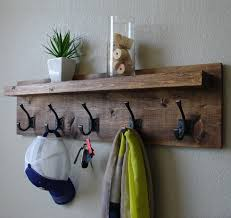 Shelf And Coat Rack Coat Rack with Floating Shelf 4
