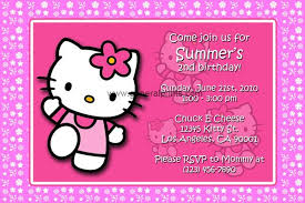 Free Hello Kitty Birthday Invitations Birthday Invitation For Kids