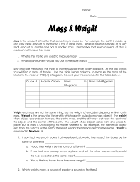 Small Metric Weight Mass And Weight Lab