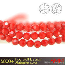 2018 glass round crystal chandelier beads in whole football beads 6mm alabaster colors a5000 with from xulinjewelry 4 53 dhgate com