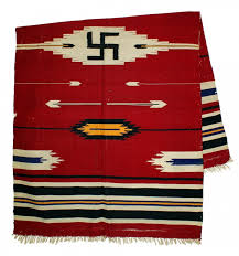 antique navajo blanket with design american plains indian pipe tomahawk will lead artwire press release from artfixdaily com
