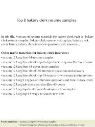 Ultimate Trace Clerk Sample Resume On Baker Resume Cake Decorator