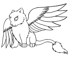 Winged Cat Coloring Pages Collection Coloring For Kids 2018