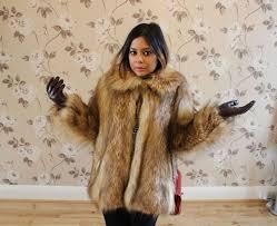 asos vintage faux fur coat camel 7