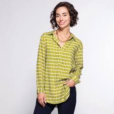 Rock Paper Flower Tunics Grace Tunic Olive And White