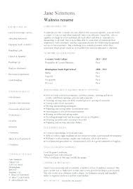 Resume About Me Examples Impressive Waitress Resume Example Restaurant Me Samples Manager Waitress