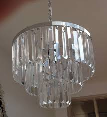 3 tier crystal chandelier with regard to fashionable laura ashley oxshott 3 tier crystal chandelier only