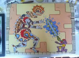 super mother brain fight if it was a hidden wall mural in the great temple from guacamelee art by retronerdstudios on deviantart  on map wall art reddit with super mother brain fight if it was a hidden wall mural in the great