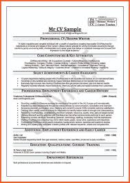 8 How To Write A Professional Curriculum Vitae Bussines