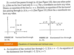 15 example equations of horizontal and vertical lines