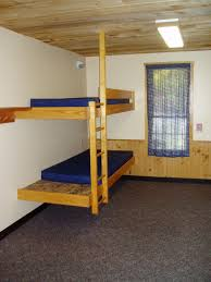 bedroom: Superb Fun Bunk Beds With Blue Mattress Near Wall Lamp Plus Nice  Ligting On