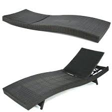 Outdoor Patio Furniture Wicker Rattan Adjustable Pool Chaise