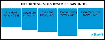 standard shower curtain size standard bathtub shower curtain size