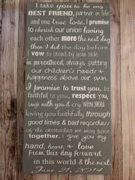 custom wedding vows wood sign 12 x 24 personalized Wedding Vows Plaque Wedding Vows Plaque #18 wedding vow plaque