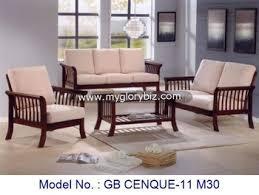 wood living room set
