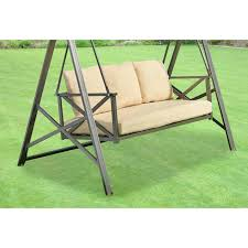 outdoor swing replacement cushions hampton bay 3 person futon patio costco home depot outdoor swing replacement