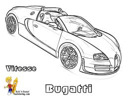 Bugatti vitesse super car coloring picture at yescoloring