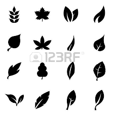 leaf black and white. black leaf icon set on white background royalty free cliparts, vectors, and stock illustration. image 45347622.