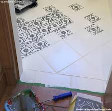 old bathroom tile. Upcycling Old Bathroom Tiles With Stencils DIY Idea Tile