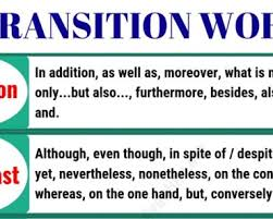 40 Common Transition Words Addition In English English