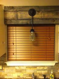 pallet window cornice board wood valance ideas diy
