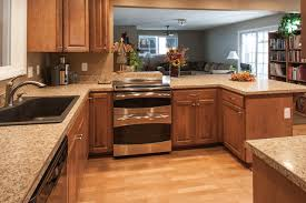 Birch Kitchen Cabinets, Laminate Flooring, Stainless Steel Double Oven  Arts And Crafts