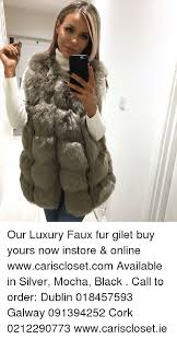 memes silver and our luxury faux fur gilet yours now in