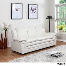 madison home divano roma clic bonded leather sofa and loveseat living room furniture color black