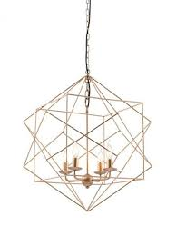 gold wire geometric pendant light modern furniture brickell collection