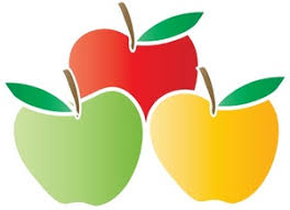 green and red apples clipart. fruit clipart image: apples green and red l