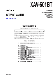 wiring harness diagram sony xav 60 block and schematic diagrams \u2022 sony xav-7w wiring harness sony xav 60 xav e60 service manual free download rh servicemanuals us sony double din dvd sony xav 60 bypass