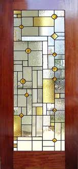 Fine Stained Glass Door Designs Lloyd Wright Inspired And Leaded In Modern Design