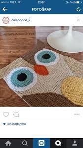 Crochet  )  Owl RugKids ...
