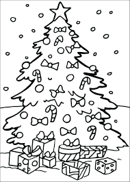 Blank Christmas Tree Colouring Page Printable Coloring Pages Medium
